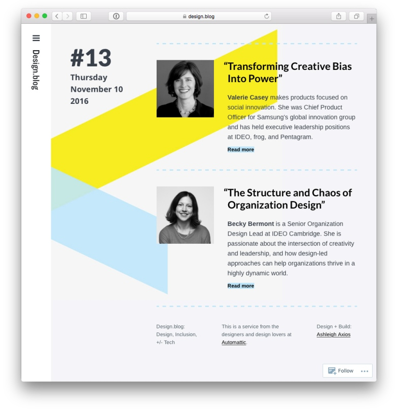 Issue 13 with Valerie Casey on Transforming Creative Bias Into Power, Becky Bermont on The Structure and Chaos of Organization Design