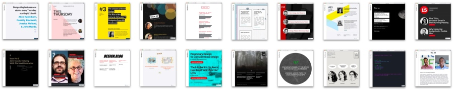 Past Covers of Design.blog